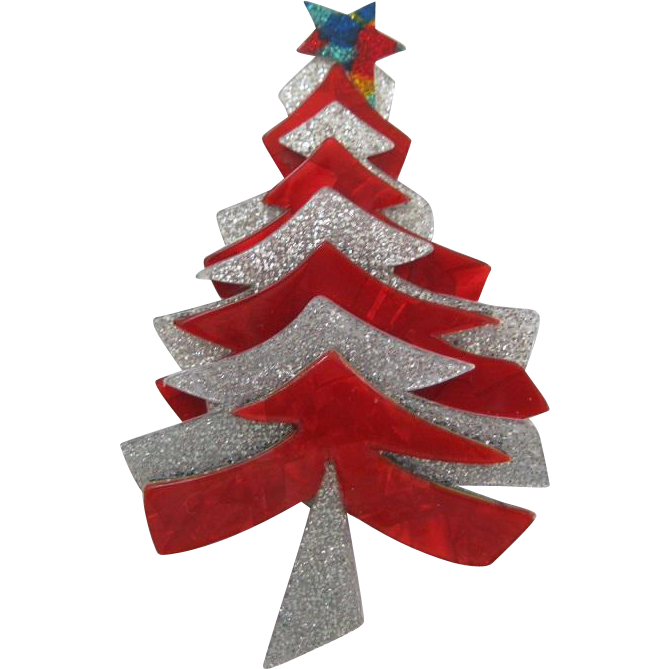 Christmas Tree Pin By French Designer Lea Stein   French ...