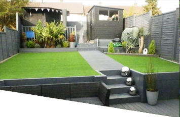 Garden Design With Artificial Grass a lovely example of artificial grass application. www.grassify