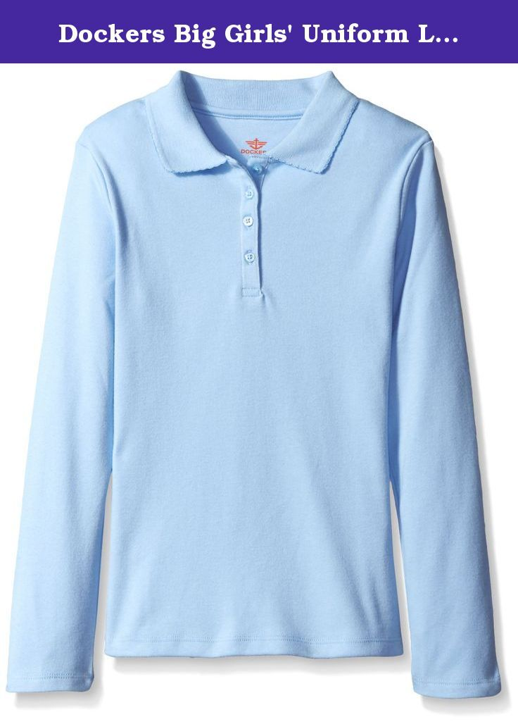 The Childrens Place Girls Uniform Long Sleeve Polo