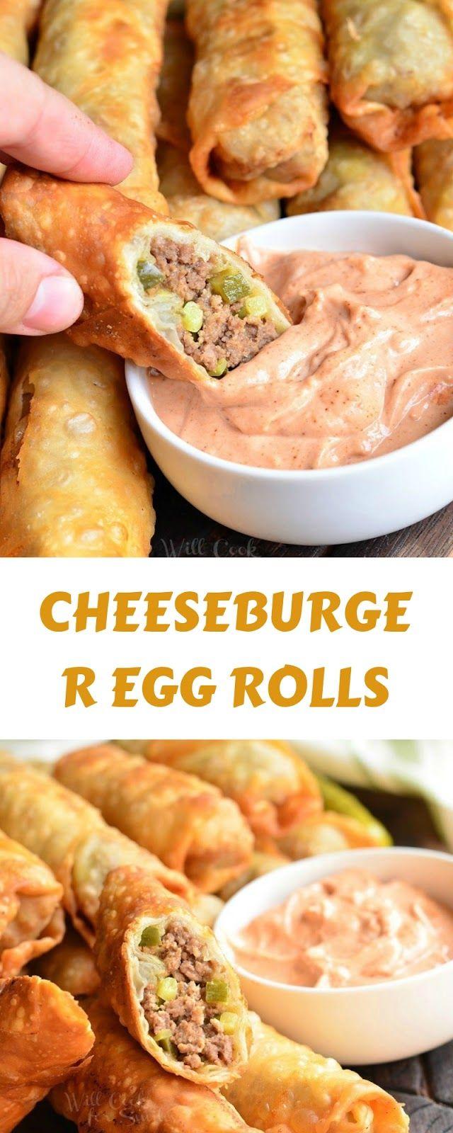 Cheeseburger Egg Rolls #eggrolls