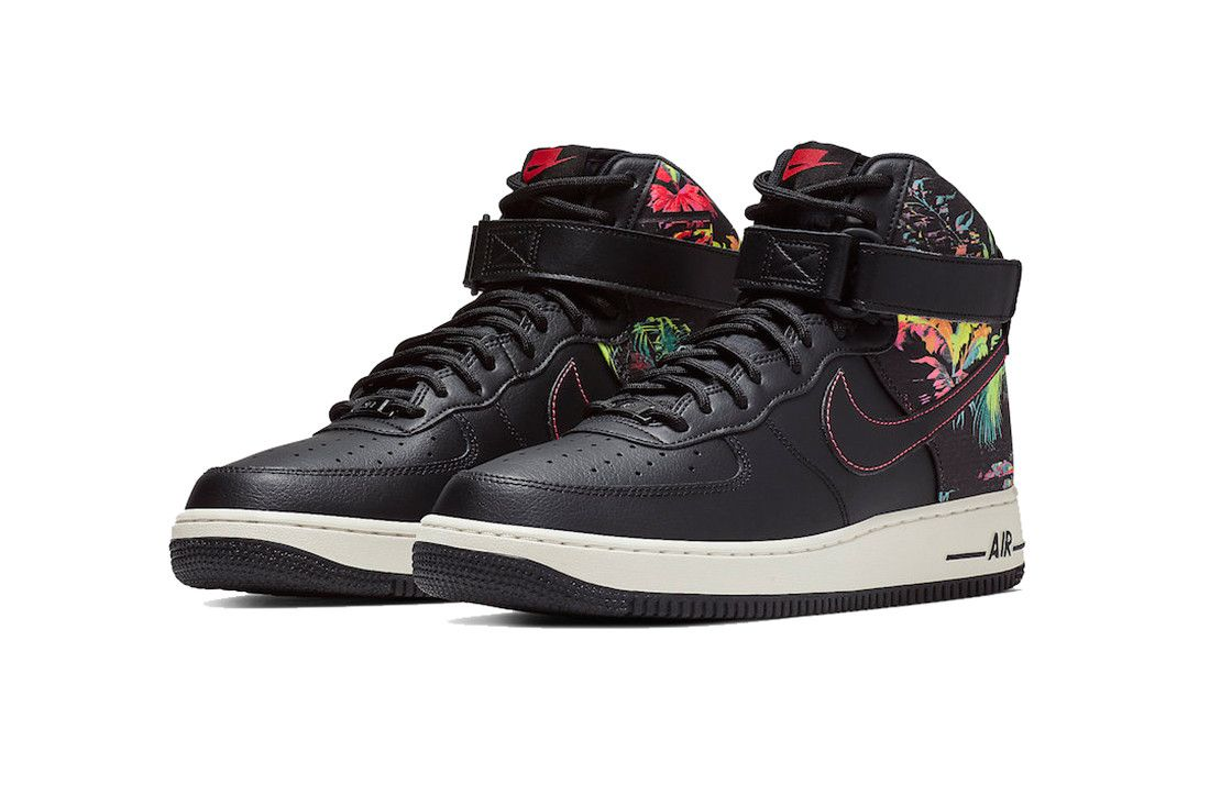 0ae996855bf72 nike air force 1 high black floral 2019 footwear nike sportswear shoes  sneaker spring february release date info details cost price