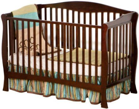 Amazon.com: Stork Craft Savona Fixed Side Convertible Crib, Espresso: Baby
