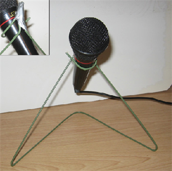 Make A Microphone Stand Out Of A Wire Hanger Wire Hangers Microphone Stands Metal Hangers
