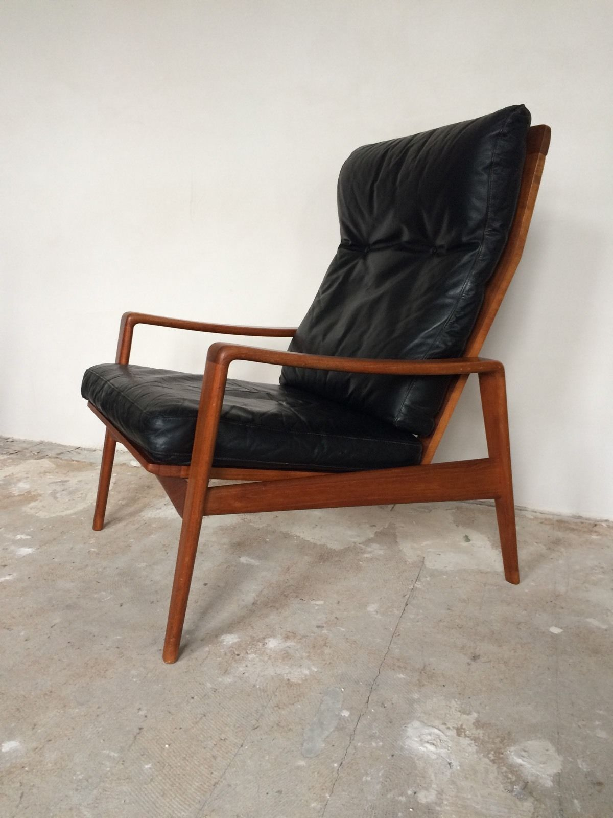 arne wahl iversen komfort lounge chair teak 60s danish design leder sessel 60er m bel zuhause. Black Bedroom Furniture Sets. Home Design Ideas