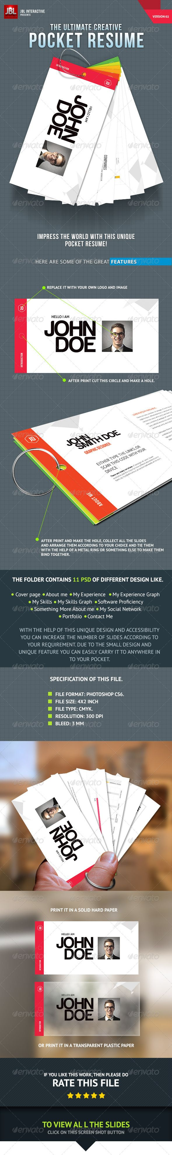 The Ultimate Creative Pocket Resume Resume Design Template Creative Cvs Resume