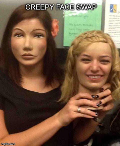 Creepy Face Swap