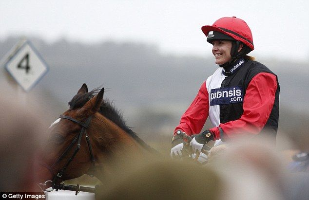 Olympic Gold Medal Winner Victoria Pendleton wins her first race on the Paul Nicholls trained Pacha du Poldar at Wincanton last week. 05.03.2016