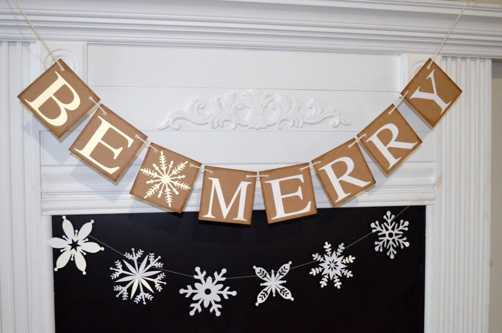 Be Merry Banner - Christmas Decoration - Be Merry Christmas Banner - Holiday Banner - Holiday Photo Prop