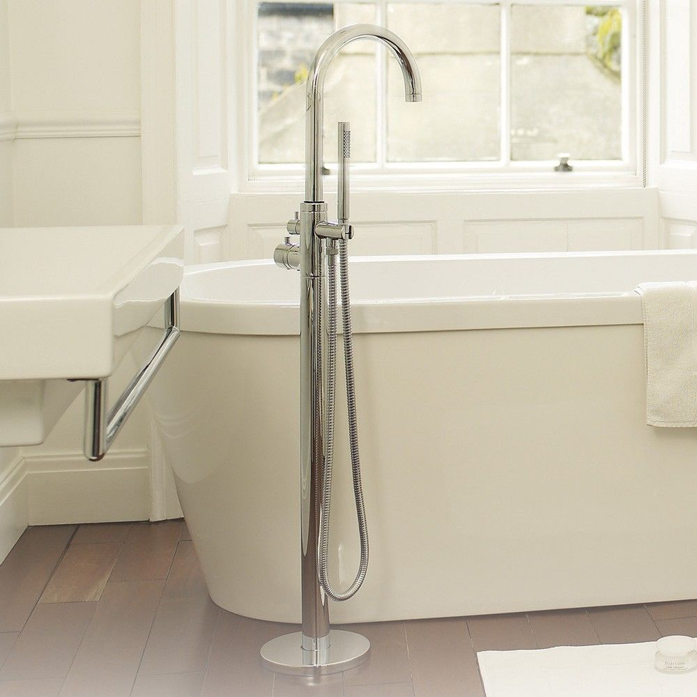 Single Control Floor Mounted Thermostatic Tub Shower Faucet - Free ...