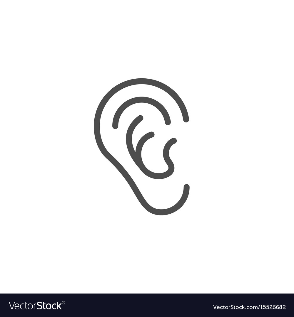 Pin By Yu Quan Lin On Ears In 2020 Line Icon Ear Vector Images