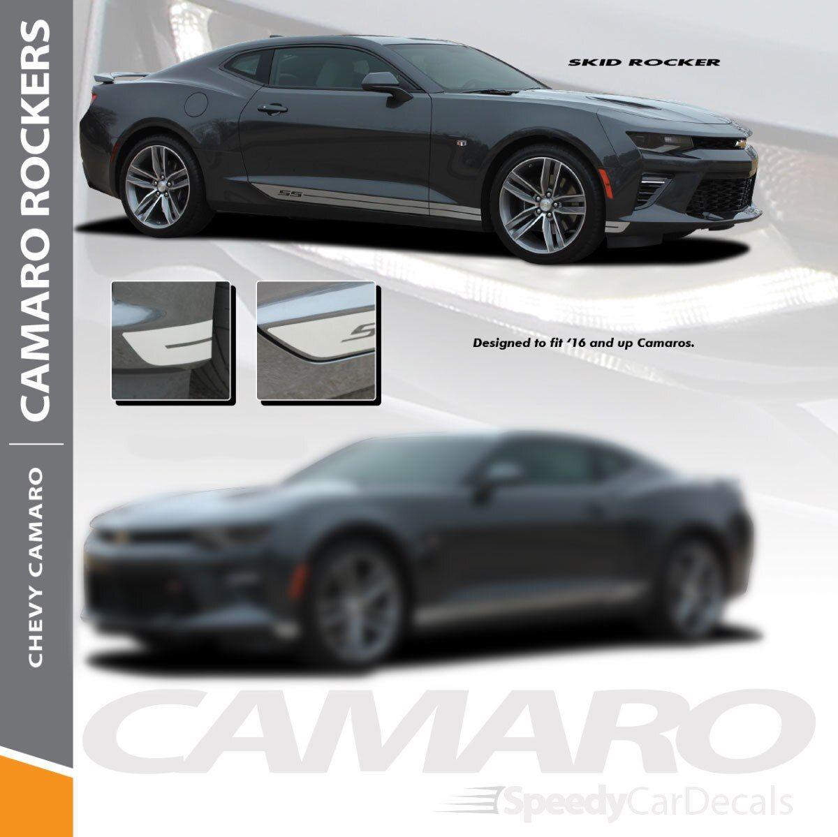 Camaro Side Decals Skid Rocker 2016 2018 Rocker Stripe Lower Graphics Premium And Supreme Install Vinyl Automotive Aut Camaro Car Vinyl Graphics Car Stripes