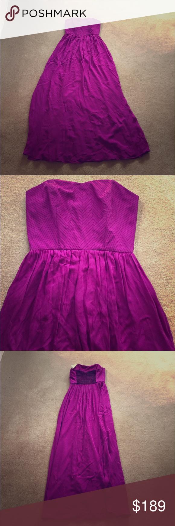 NWT Nicole Miller Pink Bodice Maxi Dress