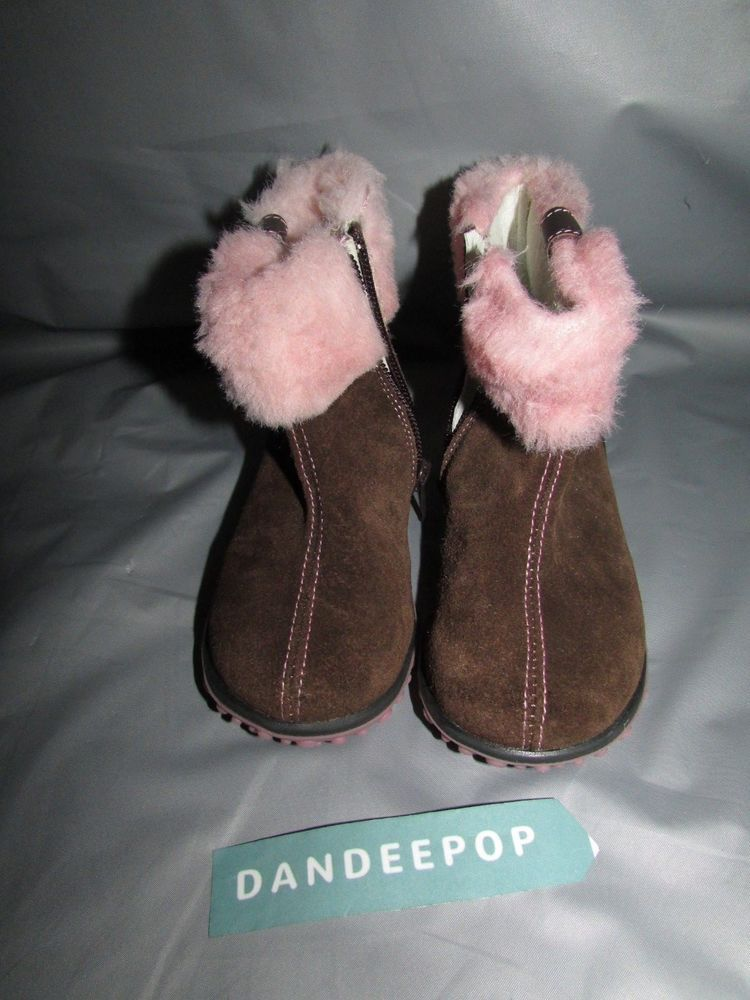b010dee06b Girls Venettini Brown Boots Shoes Size 22 EU 6 US Brown And Pink  Venettini