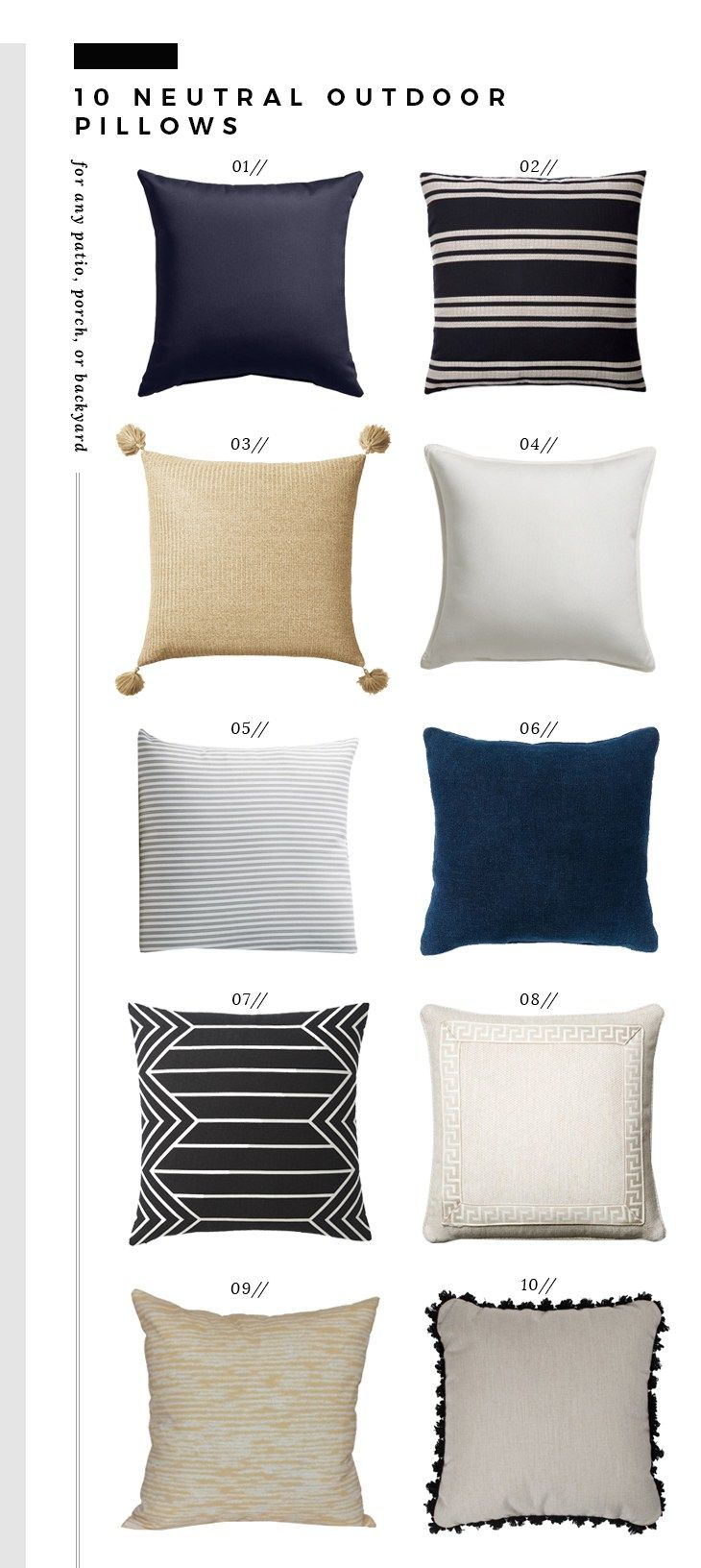 Neutral outdoor throw pillows room for tuesday blog furniture