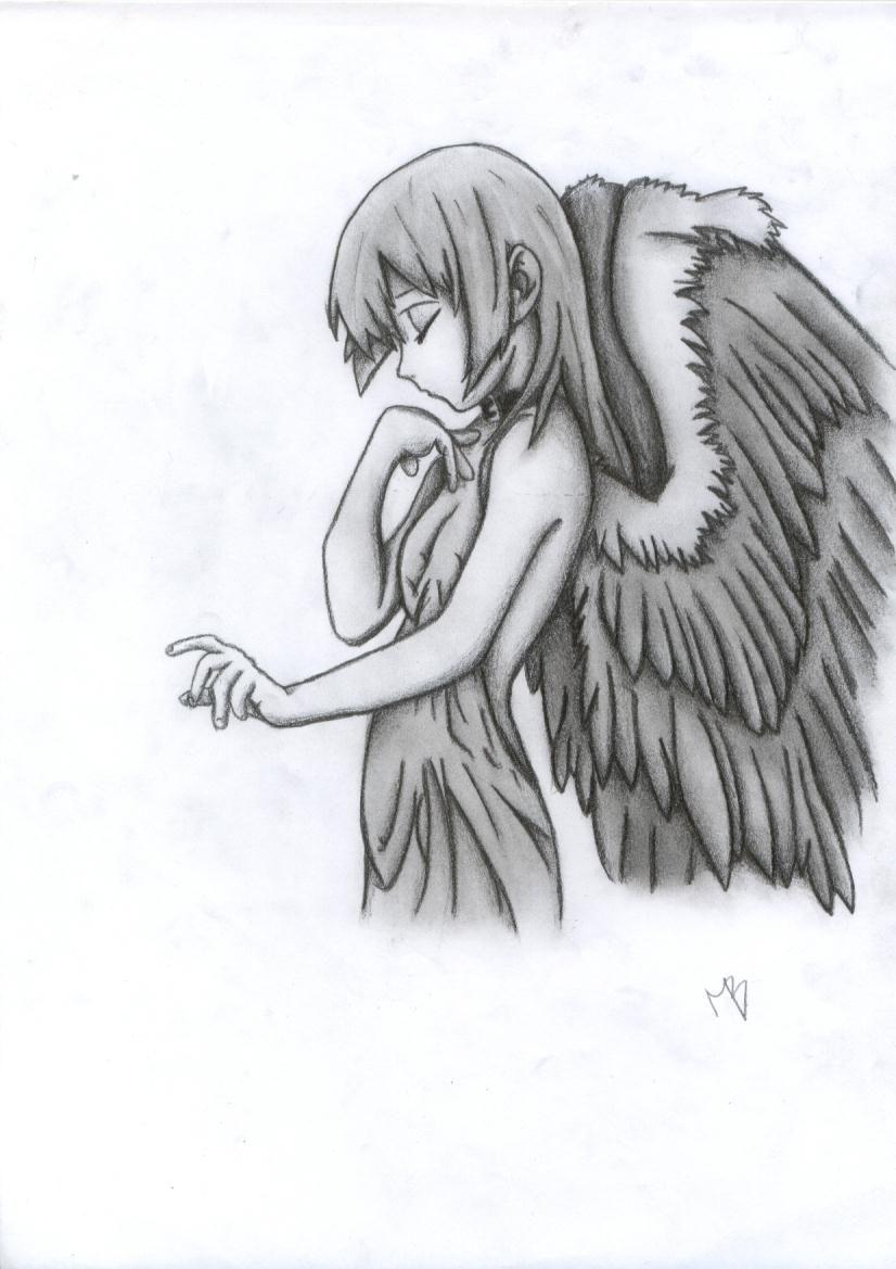 Pin By Muhammed Adeeb On Manga Drawings Angel Drawing Angel Sketch Pencil Drawings