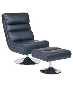 Stupendous Home Costa Swivel Chair And Footstool Black Swivel Chair Gamerscity Chair Design For Home Gamerscityorg