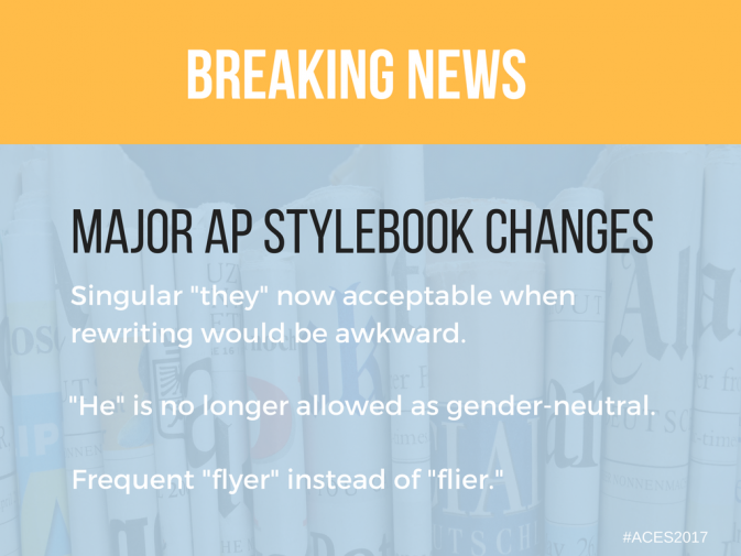 Ap stylebook updates singular they now acceptable teaching ap stylebook updates singular they now acceptable every year editors announce big stylebook changes at the american copy editors society aces annual fandeluxe Image collections