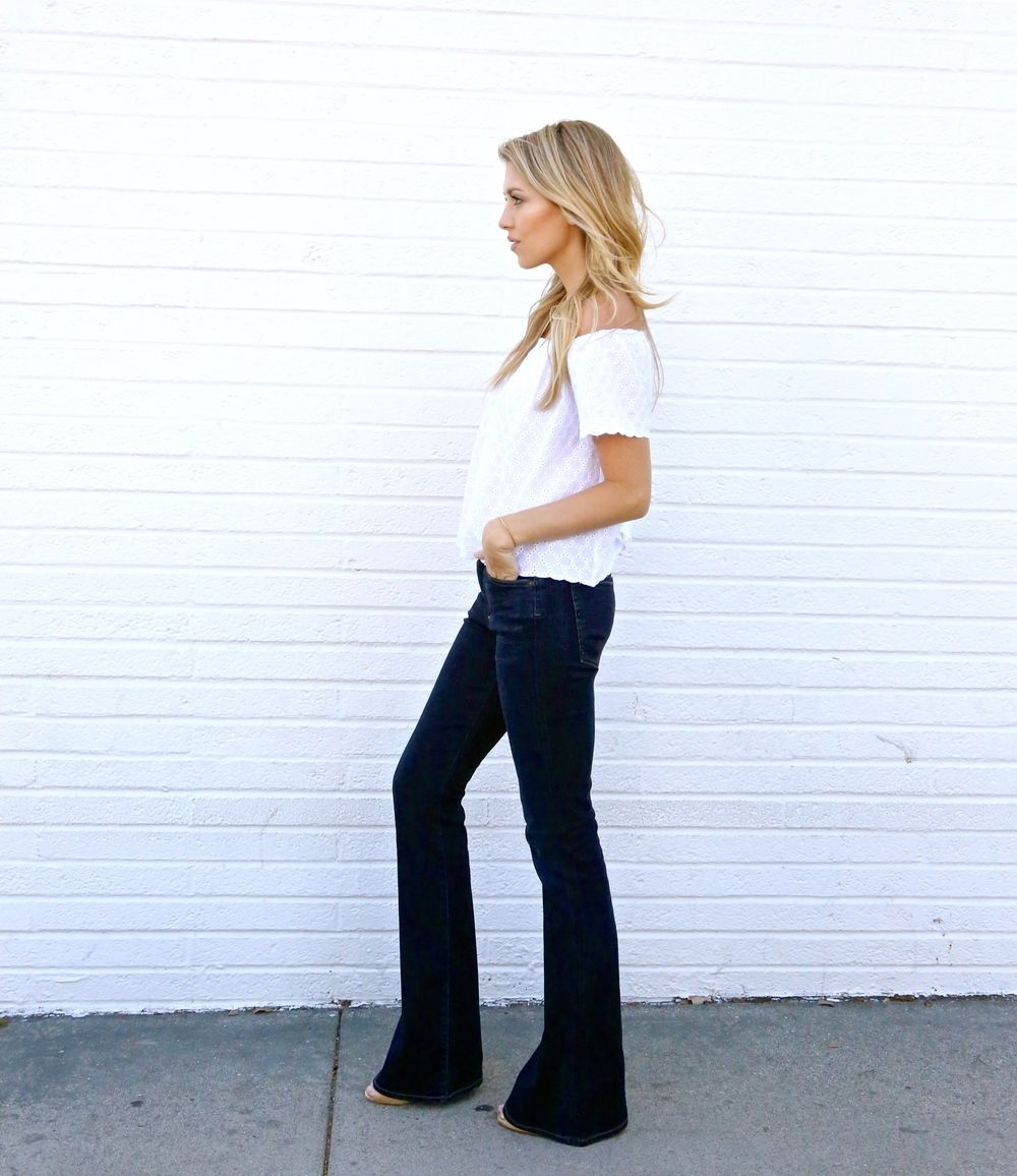 Pin By Drush Drush On Flared 89 Wide Leg Jeans Pants
