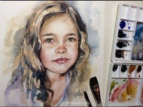 Pencil portrait mastery quick watercolor portrait painting demo by ch karron youtube