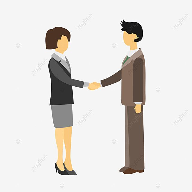 Illustration Of Two People Shaking Hands Handshake Cooperation Character Png Transparent Clipart Image And Psd File For Free Download In 2021 Clip Art Illustration Watercolor Flower Background