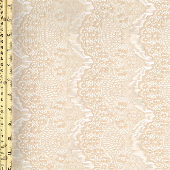 Taupe Stretch Eyelash Lace Fabric by the Yard or Wholesale ...