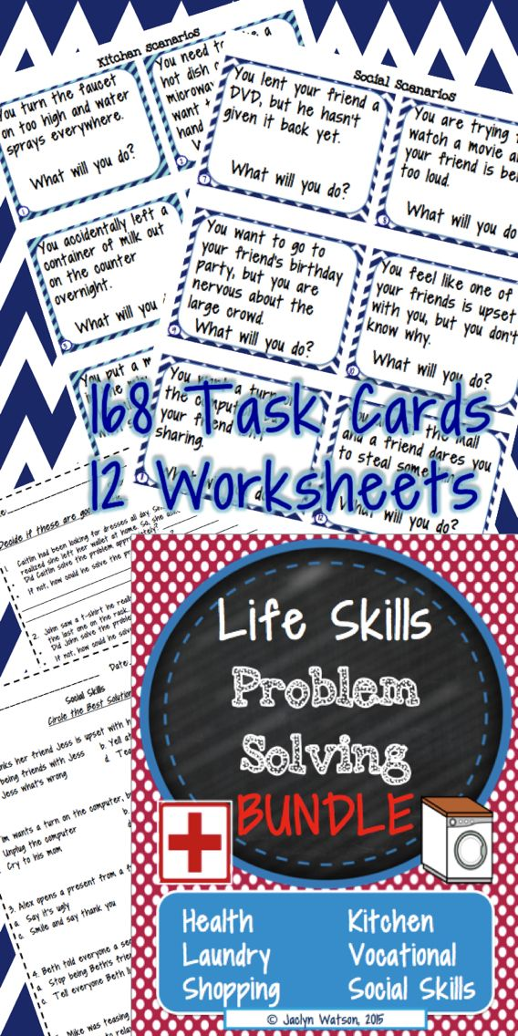 Life Skills Problem Solving Bundle SAVE | Life skills, Worksheets ...