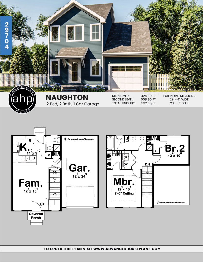 2 Story Traditional House Plan Naughton Narrow House Plans Traditional House Plan Craftsman House Plans