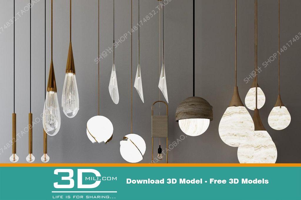 404  Ceiling light 3dmodel Free Download - 3D Mili - Download 3D