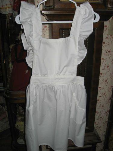 All White Full Apron Ruffled Bib Fits Most All   eBay   Ballet ...