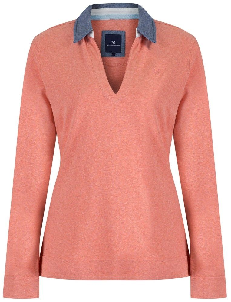Women's Crew Clothing Zara Rugby Shirt - Coral