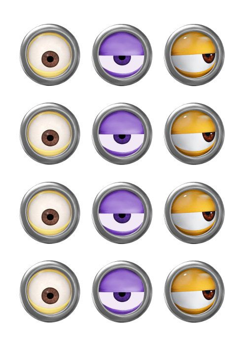 despicable me minions gru printable party 2 circle for. Black Bedroom Furniture Sets. Home Design Ideas