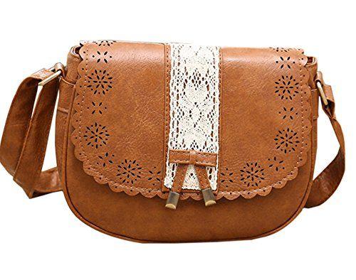 34f5b9336919b PAUL MARIUS kleine Ledertasche Vintage-Stil niedlich farbe braun MON MIGNON