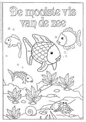 Kleurplaten Dieren In Het Water.Kleurplaat De Mooiste Vis Van De Zee 2 Mooiste Visje In De Zee