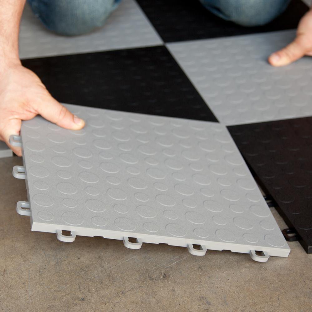 BlockTile 12 in. x 12 in. Modular Interlocking Garage