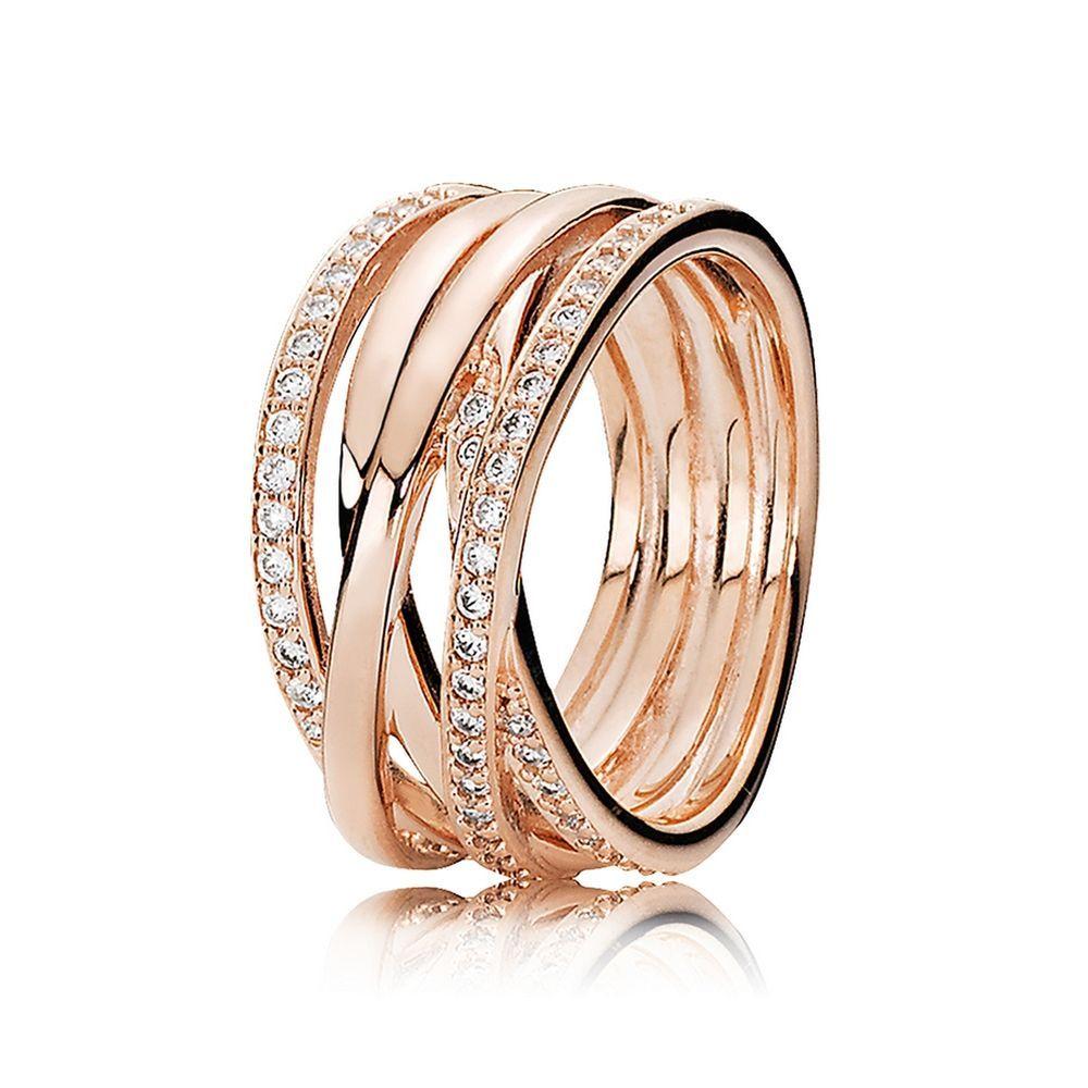 Entwined Ring, PANDORA Rose & Clear CZ   PANDORA Jewelry ...