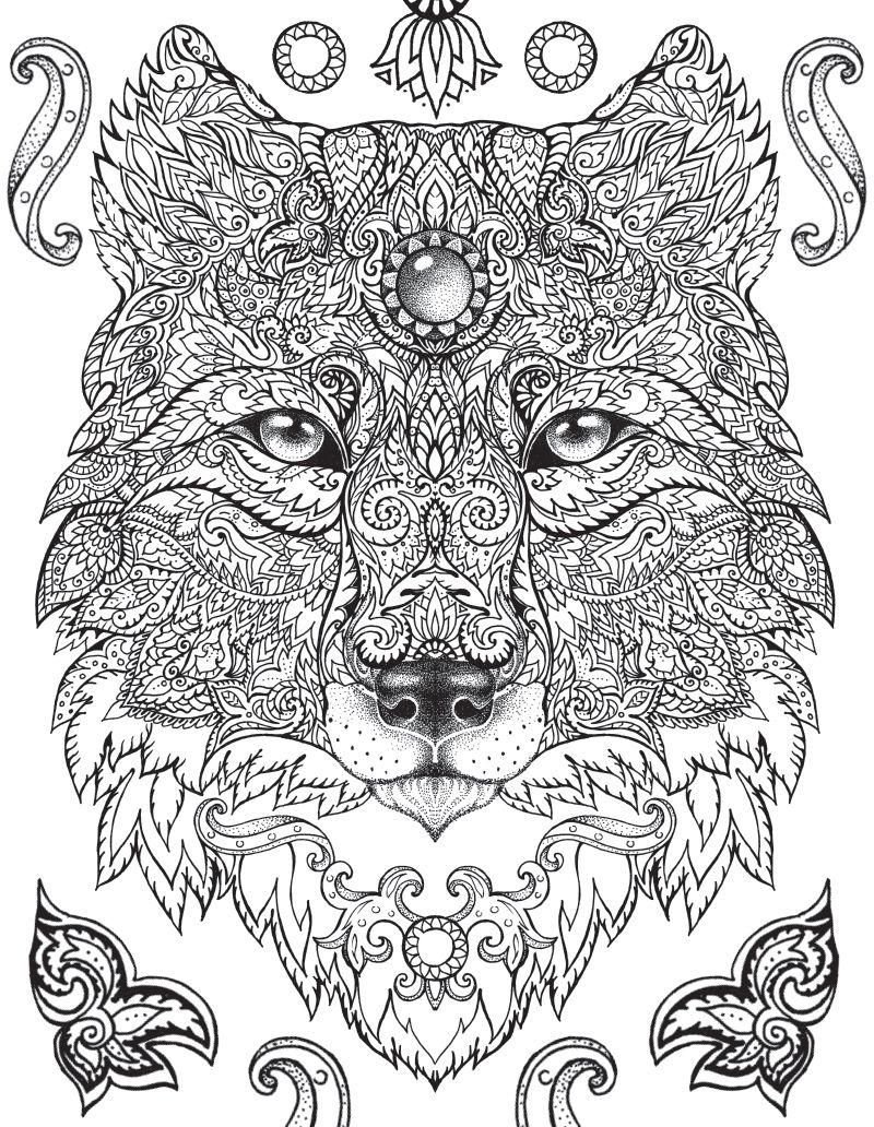 Jungle book coloring pages online - Isn T This A Gorgeous Coloring Page A Free Sample From The Jungle Book A Coloring Book Enjoy