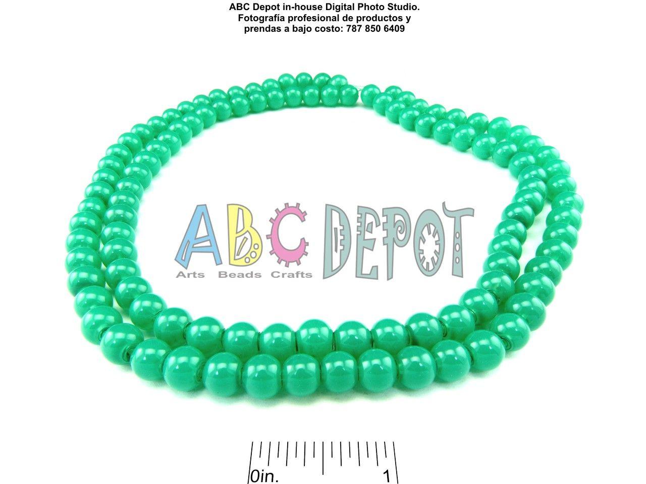 """#Cristal imitación #Jade. Esferas de 8mm en #Ristra de 32"""". Código: IJ0832. Disponile en varios colores."""