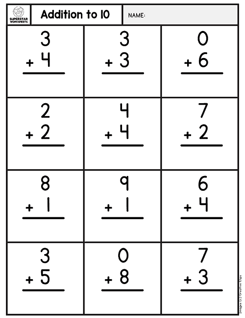 Simple or Basic Addition worksheets for your younger ...