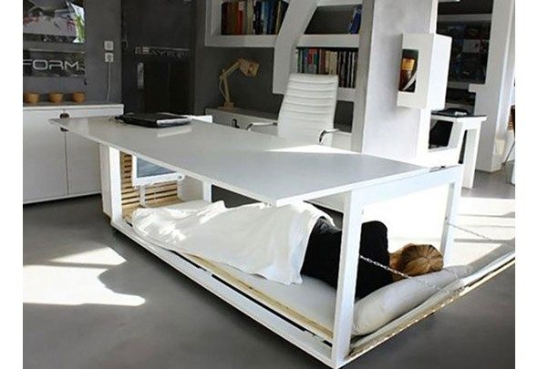 This is truly the design for people who have to work late, or hit that brain fog at about 3ish. Designed by Greek firm Studio NL, the nifty nap desk features a bed compartment that lets you get some much-needed shuteye — such a necessity in winter. Image courtesy of boredpanda.com