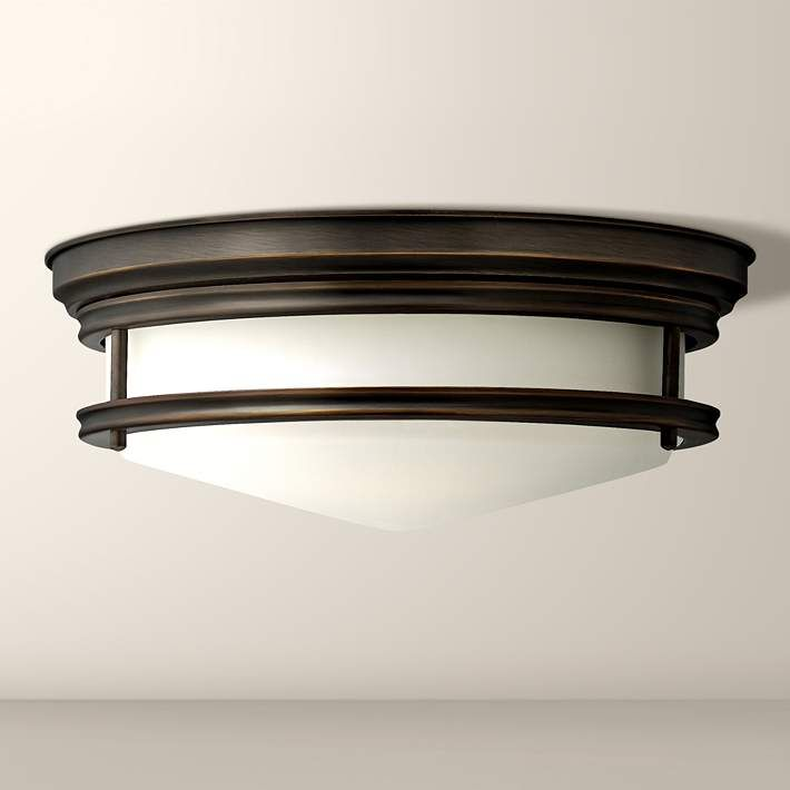 Hinkley hadley 14 wide oil rubbed bronze ceiling light