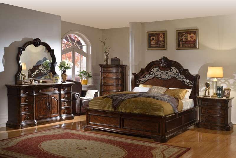 . McFerran Home Furnishings   Tuscan 5 Piece California King Bedroom
