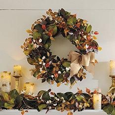 Magnolia and Pinecones collection... ordered for the front door x2