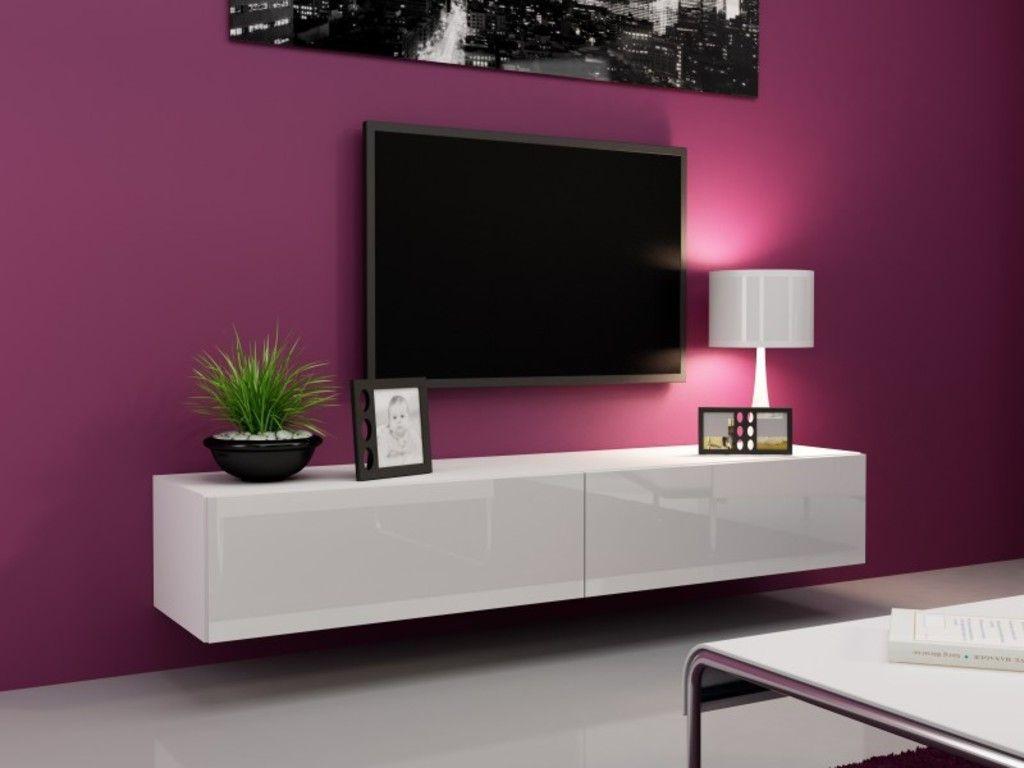 Tv Board Lowboard Vigo Hangeschrank Wohnwand 180cm Farbe Sonoma Eiche Matt Weiss Hochglanz Wohnen Tv Mobel Weiss Hochglanz Und Lowboard