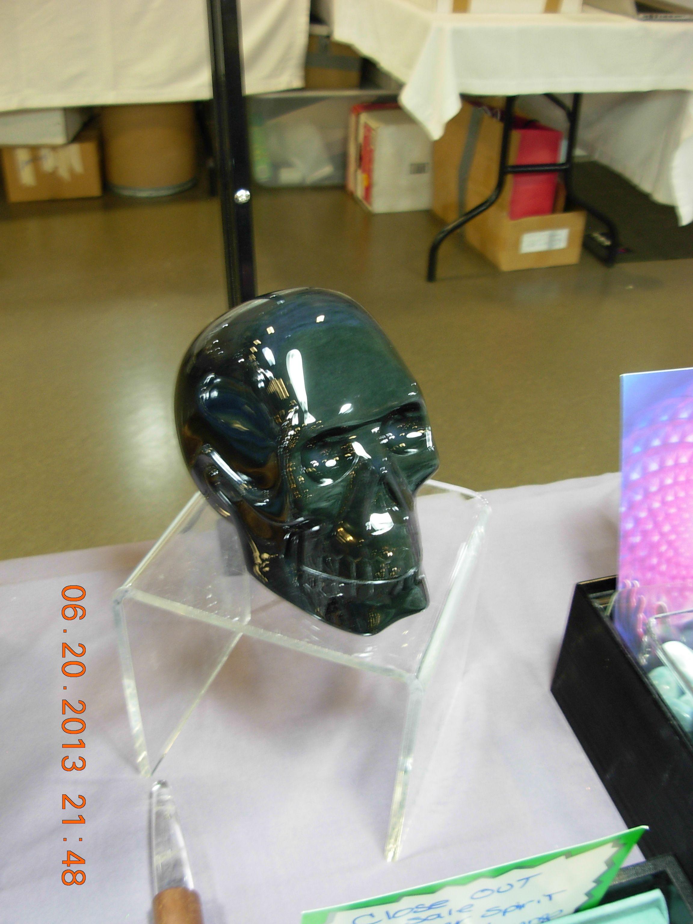 Green obsidian skull mx minerals obsidian skull