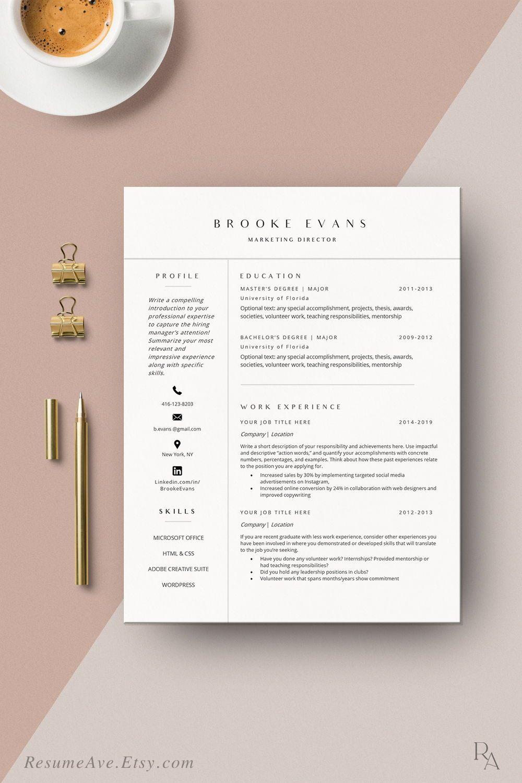 Modern Resume Template Word Instant Download Minimal Lebenslauf And Cover Letter Feminine Curriculum Vitae Resume Template Mac Designs Nursing Resume Template Resume Template Word Resume Template