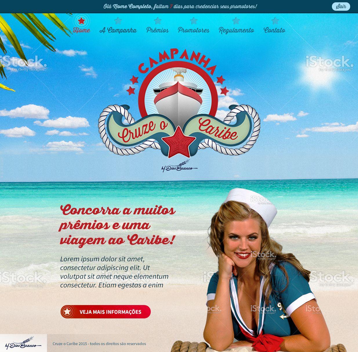 Website retrô. Advertise Promocional.  Campanha de incentivo website  #website #retro #advertise #advertising #promotion #pinup #caribe #beach #brazilian #brazil