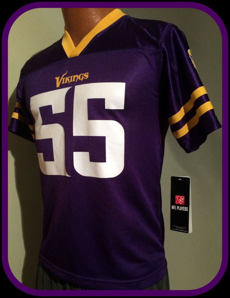 Wholesale ANTHONY BARR MINNESOTA VIKING TEAM APPAREL FOOTBALL JERSEY YOUTH LG