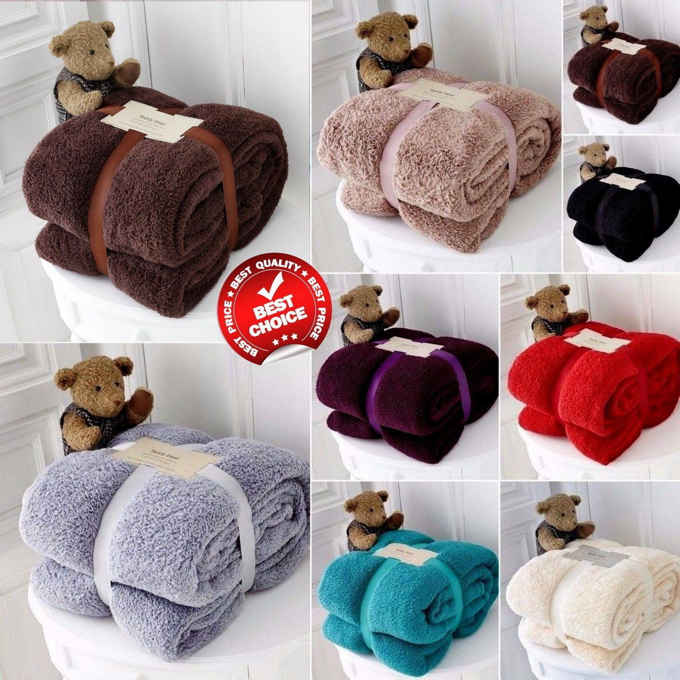 Extra Soft And Warm Superior Quality Fleece Blanket Throws Perfect