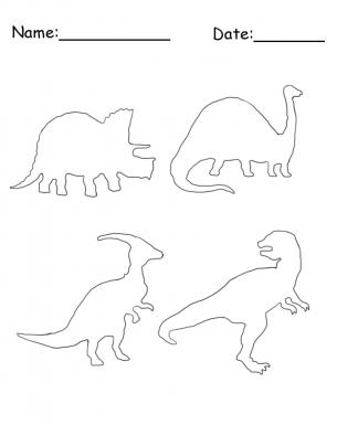 Printable dinosaur stencil free printable crafts for Dinosaur templates to print
