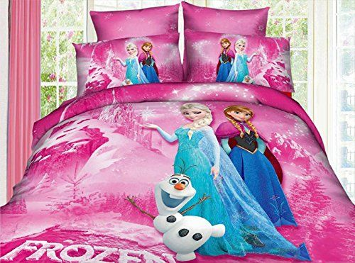 Anna Elsa double bed set 100/% cotton cartoon bed pillowcase duvet cover